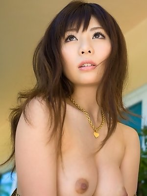 Japanese cutie model shows off her nice tits and round ass with her cute pussy