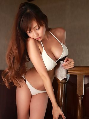 Anri Sugihara Asian has huge hooters and fine ass in lingerie