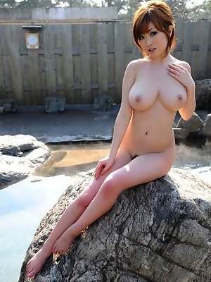 Nude gravure idol with perfect skin and mouth watering breasts